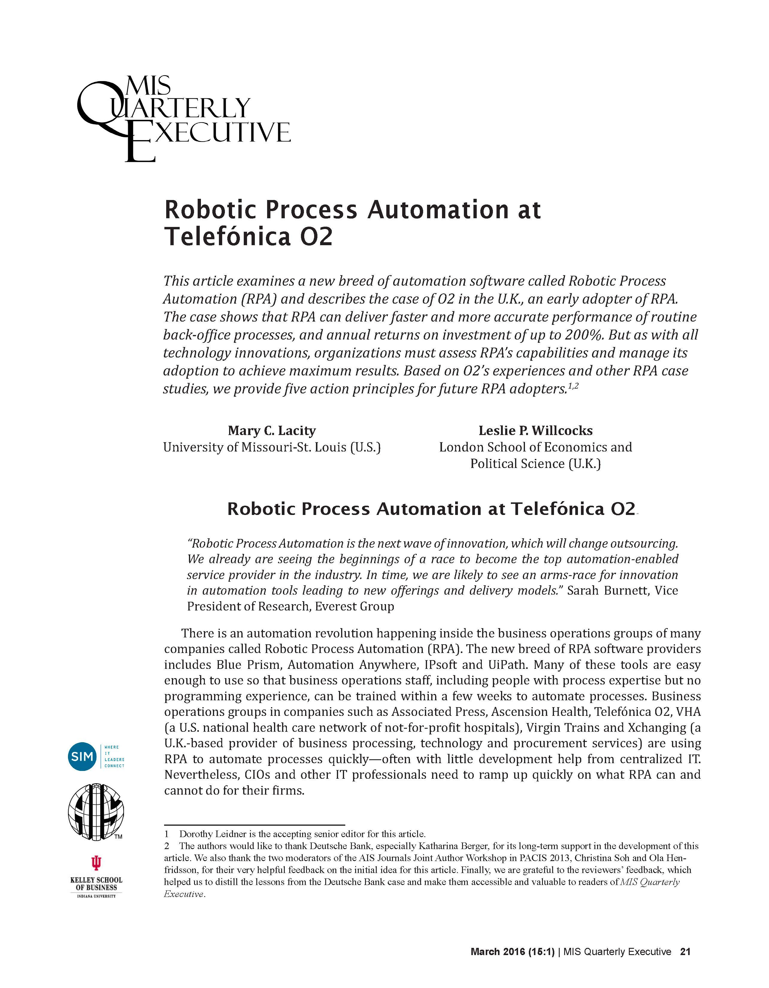 Robotic and Cognitive Automation - Downloads